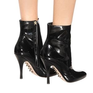 VALENTINO Killer Stud Patent Leather Ankle Bootie